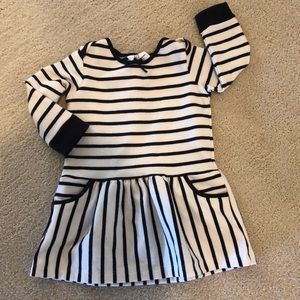 Hanna Andersson Striped Dress 12-18 months
